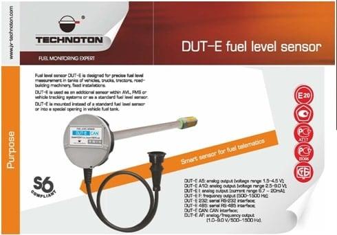 Cảm biến đo mức nhiên liệu của hãng JV-Technoton